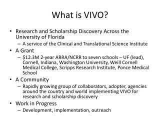 What is VIVO?