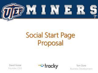Social  Start Page  Proposal
