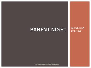 Parent Night