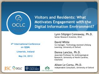 Visitors and Residents: What Motivates Engagement with the Digital Information Environment?