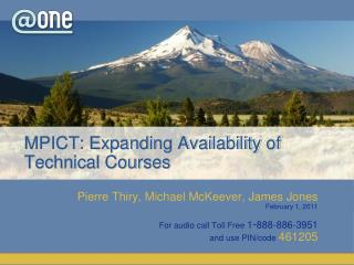 MPICT: Expanding Availability of Technical Courses