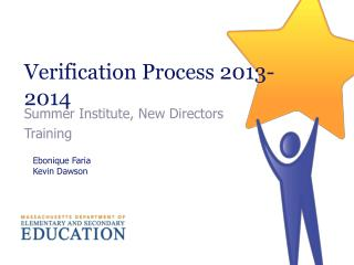 Verification  Process 2013-2014