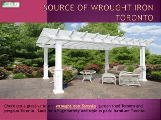 Source Of Wrought Iron Toronto