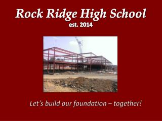 Let's build our foundation – together!