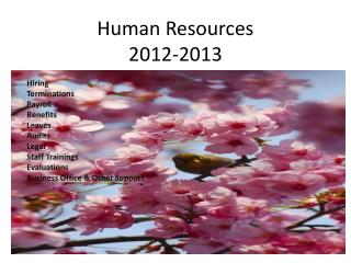Human Resources  2012-2013
