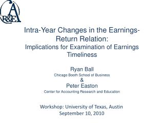 Intra-Year Changes in the Earnings-Return Relation:  Implications for Examination of Earnings Timeliness