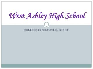 West Ashley High School