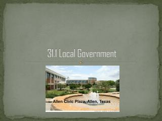 31.1 Local Government