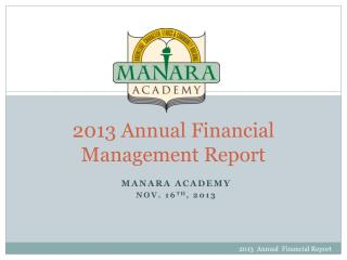 2013  Annual Financial Management Report