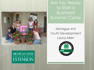 Are You Ready to Start a Business? Summer Camp
