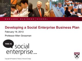 Developing a Social Enterprise Business Plan
