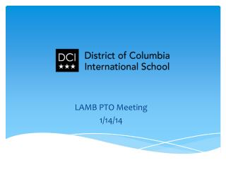 LAMB PTO Meeting 1/14/14
