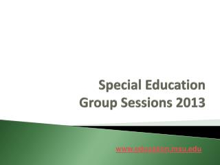 Special Education Group Sessions 2013