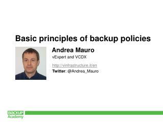 http://vinfrastructure.it/en Twitter :  @ Andrea_Mauro