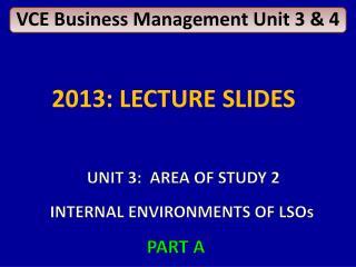 VCE Business Management Unit 3 & 4