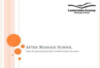 After Massage School
