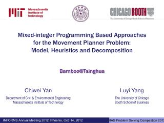 Mixed-integer Programming Based  Approaches for the  Movement Planner Problem:  Model ,  Heuristics and  Decomposition