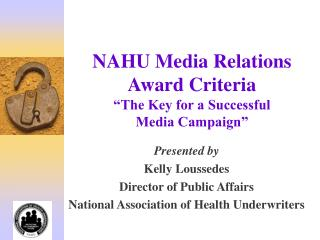 Understanding the Media Relations Award Criteria PowerPoint