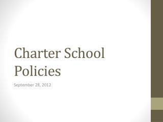 Charter School Policies