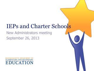IEPs and Charter Schools