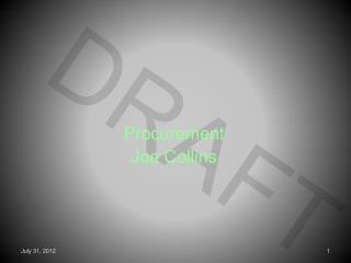 Procurement Joe Collins