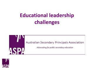 Educational leadership challenges