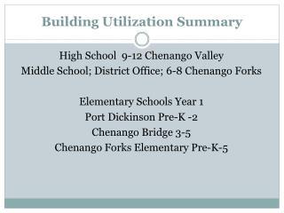 Building Utilization Summary