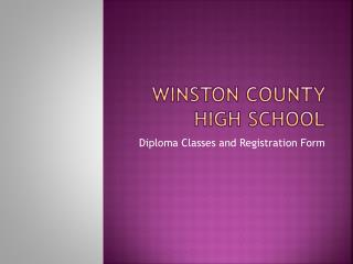 Winston County High School