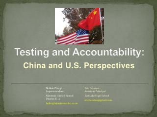 Testing and Accountability: