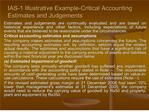 ias-1 illustrative example-critical accounting estimates and judgements