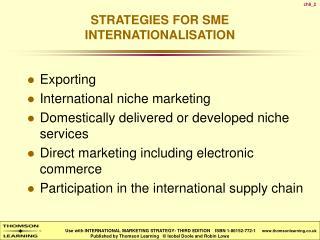 strategies for sme internationalisation