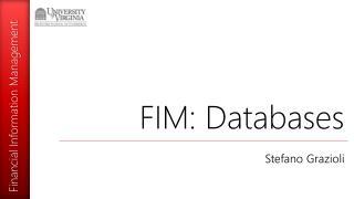 FIM: Databases