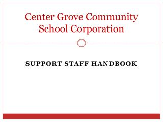Center Grove Community  School Corporation