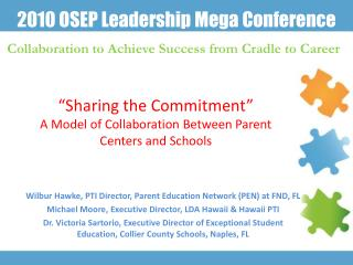 """Sharing the Commitment"" A Model of Collaboration Between Parent Centers and Schools"