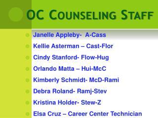 OC Counseling Staff