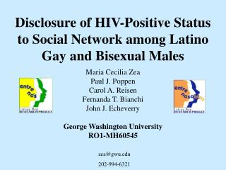 disclosure of hiv-positive status to social network among latino gay and bisexual males
