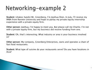 Networking-example 2
