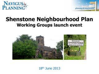 Shenstone Neighbourhood Plan Working Groups launch event