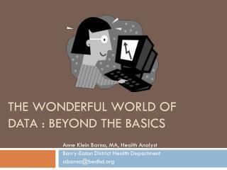 The Wonderful World of Data : Beyond the Basics