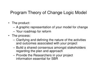 program theory of change logic model