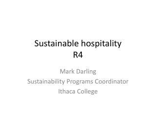 Sustainable hospitality R4