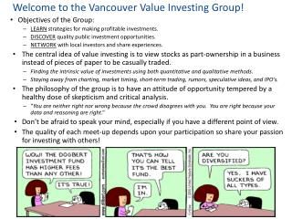 Welcome to the Vancouver Value Investing Group!