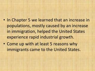 Anticipate: What kind of problems might these new immigrants face when they get to America? (Think about the problems i