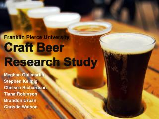 Craft Beer Research Study