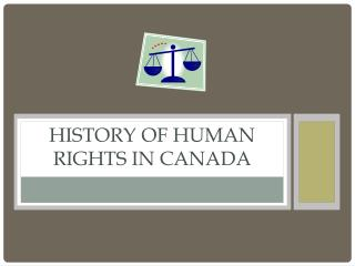 History of Human Rights in  canada