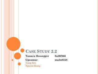 Case Study 2.2