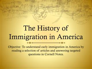 The History of Immigration in America