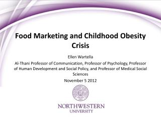 Food Marketing and Childhood Obesity Crisis