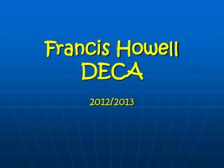 Francis Howell DECA