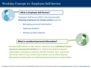 Workday Concept #1: Employee Self Service